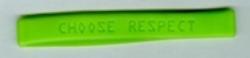Choose Respect Bracelet, Lime Green (Pkg of 100)