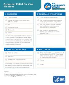 Be Antibiotics Aware: Viral Illness Prescription Pad (Pkg of 10)