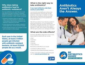 Antibiotics Aren't Always the Answer Brochure (Pkg of 50)
