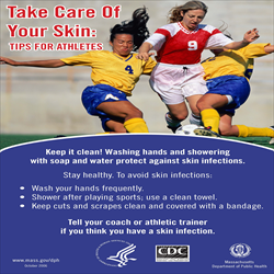 Prevent MRSA in Athletes Posters Package (Pkg of 4)
